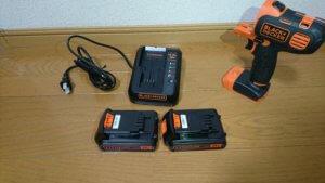 バッテリー、充電器