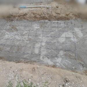 ナチュラルカントリー(南欧風)玄関アプローチを作る!下地にメッシュ筋とコンクリートを入れた