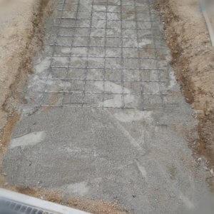 ナチュラルカントリー(北欧風)なお庭の玄関アプローチを簡単DIY☆下地に粉のコンクリート