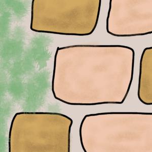 レンガの配置イメージ